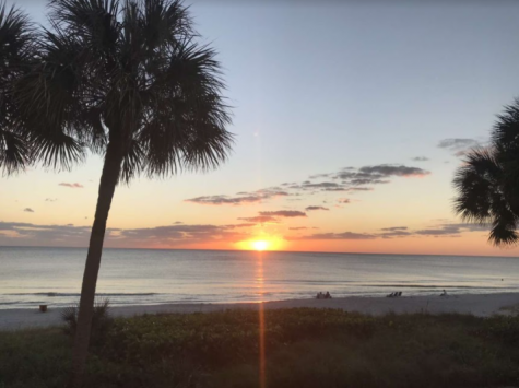 Sunset seen from remote learning location in Florida
