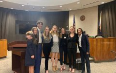 Last year's mock trial pictured here competed in person. Amid the pandemic, the mock trial team of this year had to compete via Zoom.